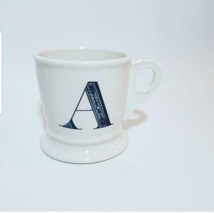 Anthropologie Monogram Initial A Coffee Mug